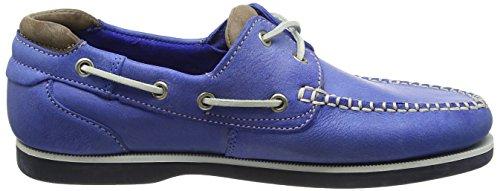 Chatham Marine Churchill Hecho En Encaje De Gran Bretaña Hombres Zapato De Cubierta De Cuero En Azul Blue (Blue/Taupe)