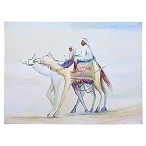 GrandUAE Canvas Multi Color Painting - Desert