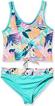 Angel Beach Girls Tankini Swim Set with Side Front Tankini Set