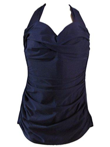 (MIRACALESUIT Miraclesuit Women's One Piece Swimsuit Halter Trimshaper (Blackberry Purple, 10))