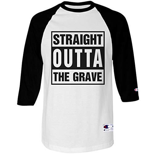 Straight Outta The Grave: Unisex Champion Raglan Baseball