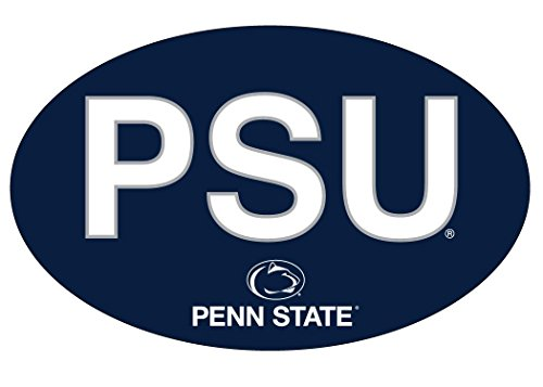 PENN STATE NITTANY LIONS BLOCK LETTER DESIGN OVAL DECAL-PENN STATE STICKER-NEW FOR 2016