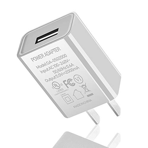 "Kindle Fire Fast Charger [UL Listed] CTREEY AC Adapter 2A Rapid Charger with 5.0 Ft Micro-USB Cable for Amazon Kindle Fire 7 HD 8 10 Tablet, Kids Edition,Kindle Fire HD HDX 7"" 8.9"", Fire Phone (White)"