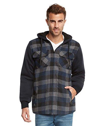 plaid jacket with hood - 5