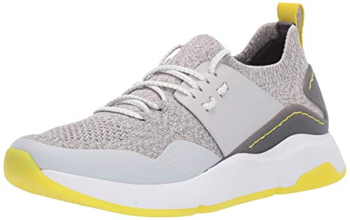 Cole Haan Women's Zerogrand All-Day Trainer with Stitchlite Sneaker, Glacier Gray/Ironstone Knit/Glacier Gray Leather/Optic White, 8 B US
