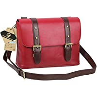 Koolertron Waterproof Vintage fashionable PU Leature DSLR Camera Bag Shoulder Messenger Bag Fit DSLR with 2 lenses For Canon Sony Nikon Canon Olympus And So On