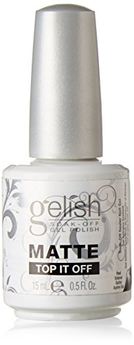 Gelish Soak Matte Top It Off Sealer Gel Nail Polish, 0.5 Ounce by Gelish