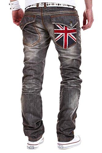 MT Styles Jeans FLAG Grau 62098