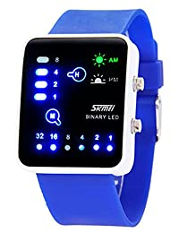 Nollimet Unisex LED Mini Digital Casual Touch Screen Sport Water Designer Style Watch Deep Blue