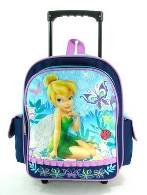 Amazon.com: Tinkerbell Navy Blue Toddler Wheeled Backpack Rolling ...