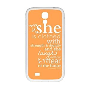 Back Cover - Customized For Case Ipod Touch 5 Cover - Bible Quote Proverbs 31:25 Hard Laser Technology Back Cases