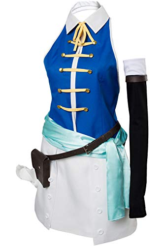 Fairy Tail Lucy Heartfilia Dress Outfit Halloween Cosplay Costume for Women -
