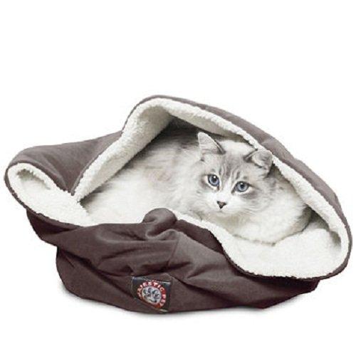 17 inch Rust Suede Burrow Cat Bed