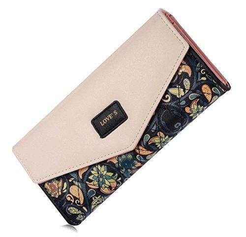 Elegant Blume Muster Frisch Fashion Süß Elegant Damen Portemonnaie Geldbörse