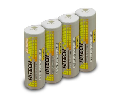 (Hitech - 4 AA Ni-Mh 2500mAh Rechargeable Batteries for Kids' Toys & Electronic Learning System)