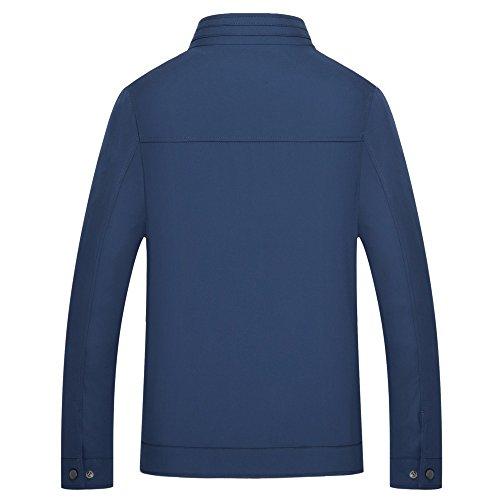 Giacca Giacca Colletto Colletto Colletto Blu Uomo Casual Manica Giacca Confortevole Grande Slim Autunno Sottile Da Primavera Sport Lunga aawq67r