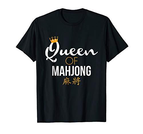 Queen of Mahjong T-Shirt Board Game Lover Mahjong Player Tee]()