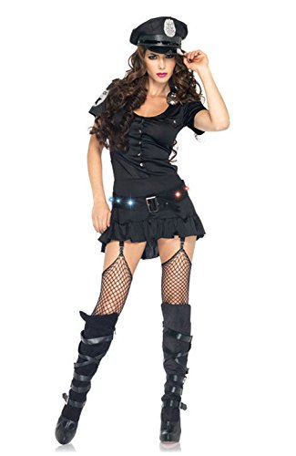 [Mememall Fashion Sergeant Police Officer Cop Sexy Women Adult Costume] (1940s Cop Costume)