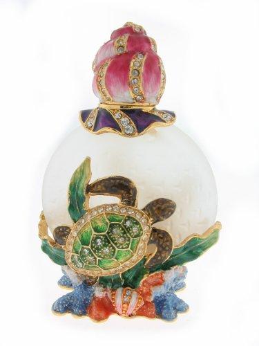 Turtle Bejeweled Miniature Perfume Bottle (Bejeweled Miniature)
