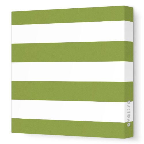 Avalisa Green - Avalisa Stretched Canvas Nursery Wall Art, Lines, Grass, 18