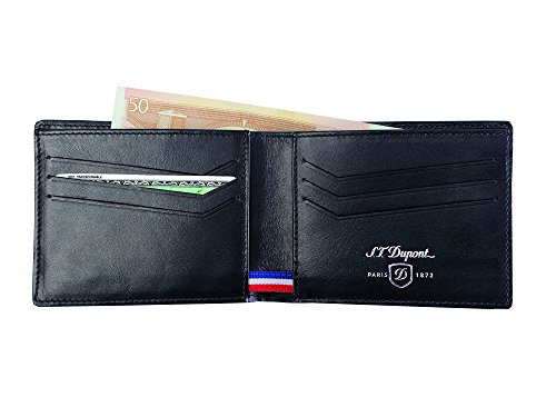S 170001 T Black S Leather T Wallet Wallet T Dupont 170001 S Dupont Leather Wallet Black Dupont vqPfI