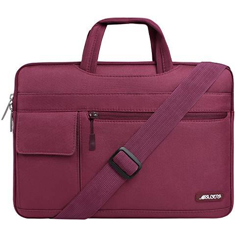 Case Wine Dimensions (MOSISO Laptop Shoulder Bag Compatible 15-15.6 Inch MacBook Pro Retina, MacBook Pro, Dell HP Acer Lenovo Chromebook Notebook Ultrabook, Polyester Flapover Briefcase Handbag Sleeve Case, Wine Red)