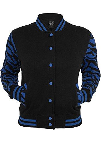 Ladies Zebra 2-tone College Sweatjacket roy/blk XL