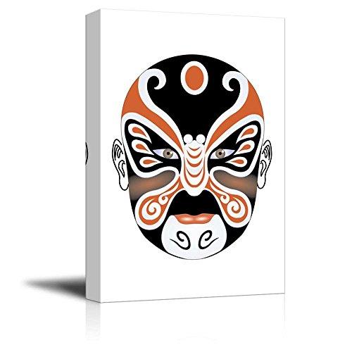Canvas Prints Wall Art - Chinese Peking Opera Makeup Traditional Face Changing Mask | Creative Wall Decor Ready to Hang - 24