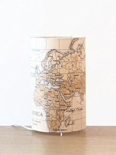 lámpara mapa del mundo - globo terráqueo - idea de regalo cumpleaños - hecho a mano - lámpara de techo - Lámparas de mesa mesilla de noche Día de la Madre
