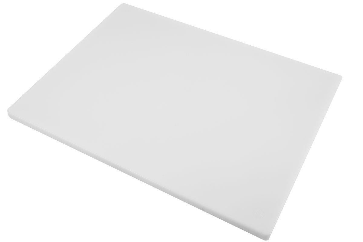 Poly Plastic Food Service Cutting Board, BPA Free, Dishwasher Safe (30 x 18 x 3/4, White)