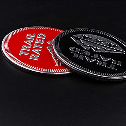 RED Hamanding 2PCS for Jeep Snow Mountain Logo Compass Patriot Trail Rated 4X4 Sticker Logo Snow Mountain Logo Decals