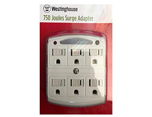 Westinghouse 750 Joules Surge Adapter - 6 Grounded Outlets (Indoor)