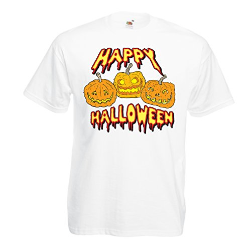 T Shirts for Men Happy Halloween! Party Outfits & Costume - Gift Idea (XXXXX-Large White Multi -