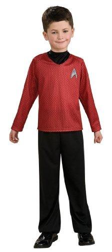 Star Trek Red Shirt Kids Costumes (Star Trek Movie Red Shirt Halloween Costume - Child Size Small by Rubie's)