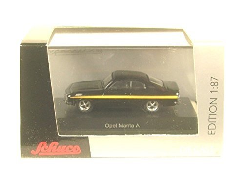 Opel Manta A, black/Decorated, black magic, 0, Model Car, Ready-made, Schuco 1:87 - Magic Herpa