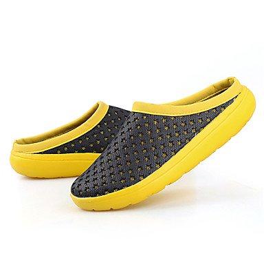 Los hombres sandalias Primavera Verano Luz Soles Tulle Piscina Casual Zapatos de talón plano Black/Yellow