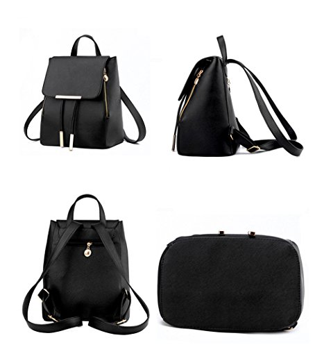Bag Leather bag Fezhiomu Pu Casual Dark Blue Daypack Mini Shoulder Girls for Backpack School YYzq5