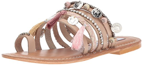 Boho-Chic Vacation & Fall Looks - Standard & Plus Size Styless - Steve Madden Women's Rippel Toe Ring Sandal, Blush