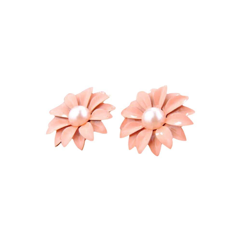 YOMXL Daisy Flower Stud Earrings Women Jewelry Gift New Cute Pearl Decor Fashion Earrings Small Diamond Shaped Daisy Studs