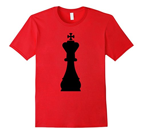 Mens Chess Piece Group Costume Shirt - QUEEN (black) Medium Red - Red Chess Queen Costume