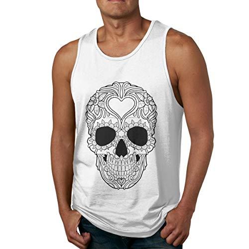 Men's Tank Tops Gym Vests Shirt Skull Black