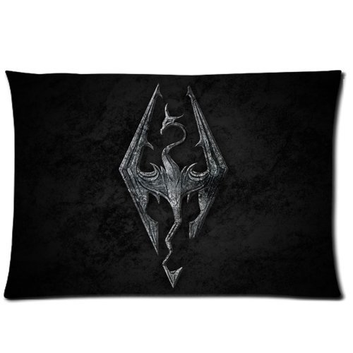 Brand New Skyrim The Elder Scrolls IV Oblivion Rectangle One Pillow Case 20x30 (one side) Comfortable For Lovers And Friends