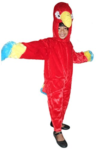 Fantasy World Parrot Halloween Costume f. Children/Boys/Girls, Size: 5, (Parrot Halloween Costumes Child)
