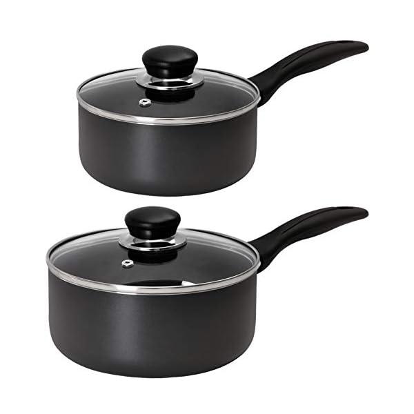 Utopia Kitchen Nonstick Saucepan Set - 1 Quart and 2 Quart - Glass Lid - Multipurpose Use for Home Kitchen or Restaurant… 1