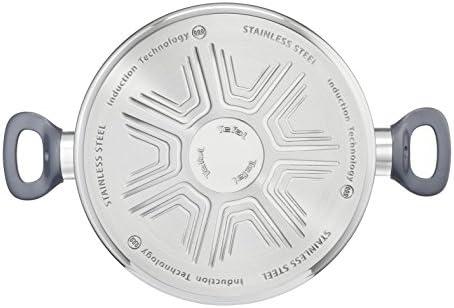 DAILYCOOK Faitout 24 cm Inox + Couvercle Tous Feux Dont Induction