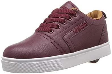 Heelys Boys' GR8 Pro Tennis Shoe, Burgundy/Cashew, 1 M US Big Kid