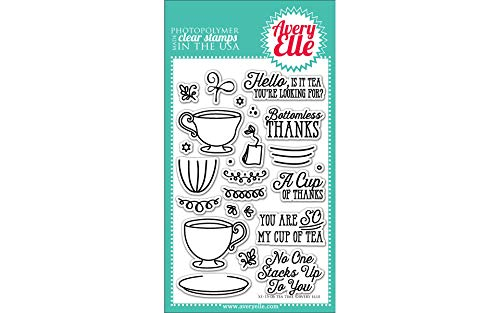 Avery Elle Tea Time Stamp Set, 4 by 6