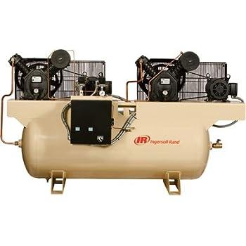 Ingersoll Rand Air Compressor - Duplex, 5 HP, 230 Volt 3 Phase, Model# 2475E5-V