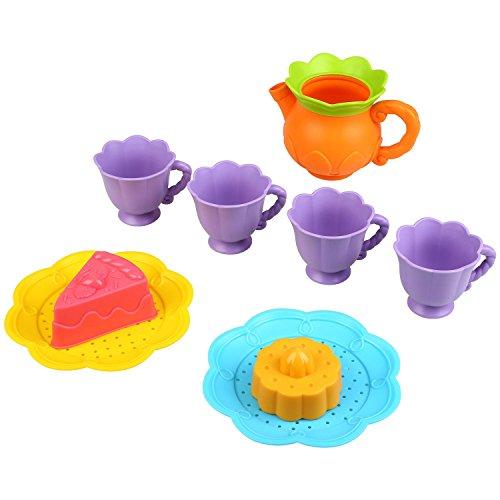 Peradix Teeservice Tee Set Kinder Rollenspiele Spielzeug Strand Sand Spielzeug 9 PCs(Zufällige Farbe)