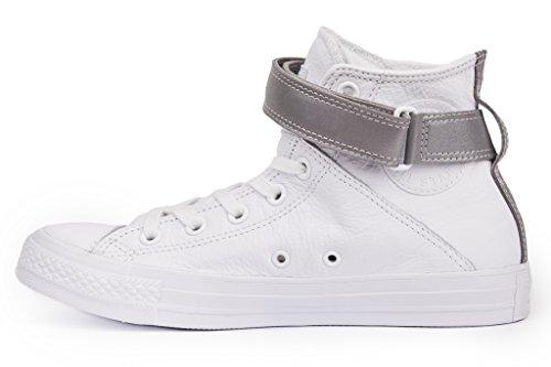 Converse Lederchucks CT AS BREA HI C553423 White/Silver, Schuhgröße:37
